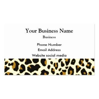 Leopard fashion print pattern business card