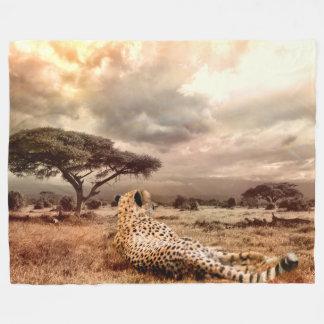 Leopard Fleece Blanket, Large