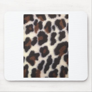 Leopard Fluff Mouse Pad