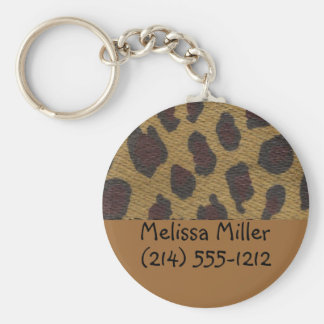 Leopard Fur Baggage ID tags Key Chains