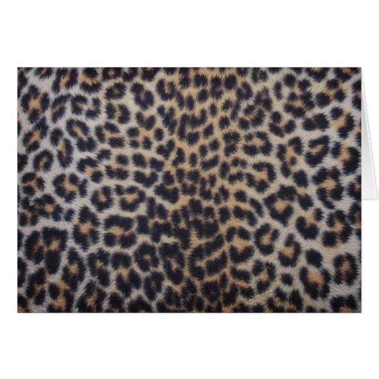 Leopard Fur Card