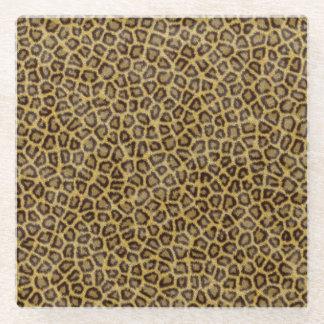 Leopard Fur Glass Coaster