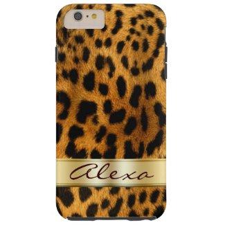 Leopard Fur iPhone 6 Plus Monogram Case Tough iPhone 6 Plus Case