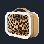 """Leopard Fur Lunch Box<br><div class=""""desc"""">A close up picture of the fur of a leopard.</div>"""