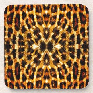 Leopard Fur Pattern Beverage Coaster