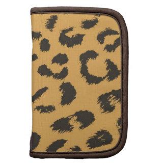Leopard Fur Pattern Folio Planners