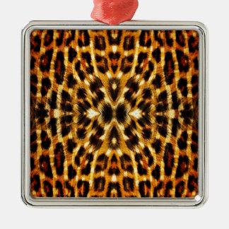 Leopard Fur Pattern Metal Ornament
