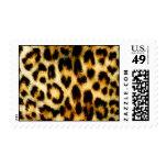 Leopard Fur Postage Stamps
