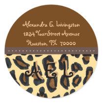 Leopard Fur Print Address Labels