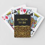 Leopard Fur Print Animal Pattern Bicycle Playing Cards