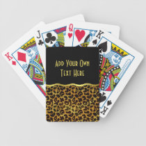 Leopard Fur Print Animal Pattern Bicycle Playing Cards