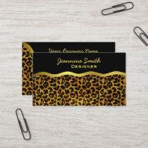 Leopard Fur Print Animal Pattern Business Card