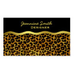 Leopard Fur Print Animal Pattern Business Cards