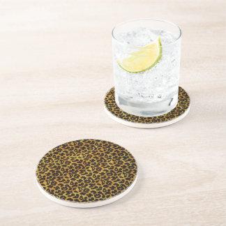 Leopard Fur Print Animal Pattern Coaster