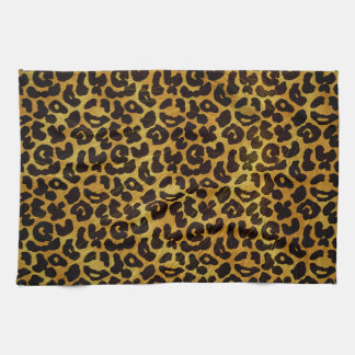 Leopard Fur Print Animal Pattern Hand Towels
