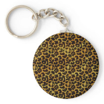 Leopard Fur Print Animal Pattern Keychain