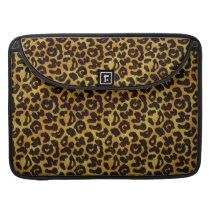 Leopard Fur Print Animal Pattern Sleeve For MacBook Pro