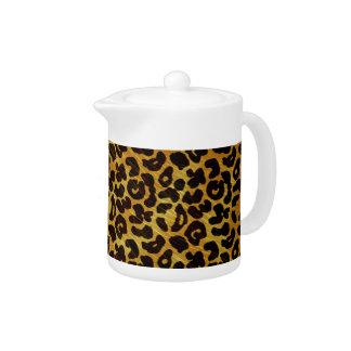Leopard Fur Print Animal Pattern Tea Pot