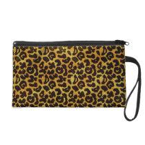 Leopard Fur Print Animal Pattern Wristlet