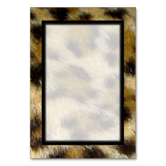 Leopard Fur Print Blank Table Number Tablecard