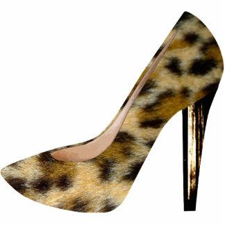 Leopard Fur Print High Heel Shoe Fashion Keychain Acrylic Cut Out