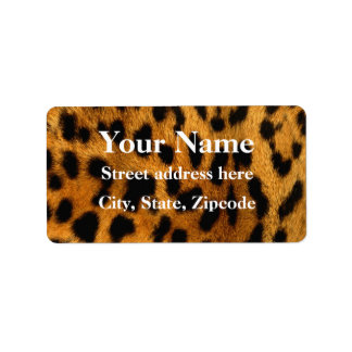 Leopard Fur Print Label