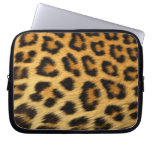 Leopard Fur Print Laptop Computer Sleeve