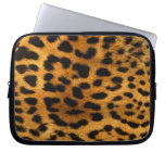 Leopard Fur Print Laptop Sleeve