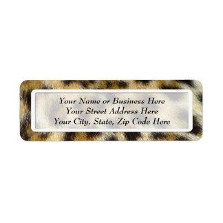 Leopard Fur Print Return Address Labels