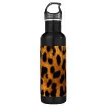 Leopard Fur Print Water Bottle
