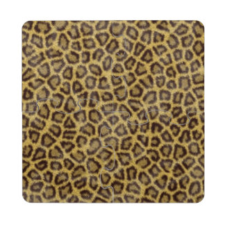 Leopard Fur Puzzle Coaster