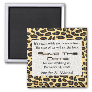Leopard Fur Save the Date Magnets