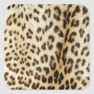 "Leopard ""Fur"" Sticker Square sticker"