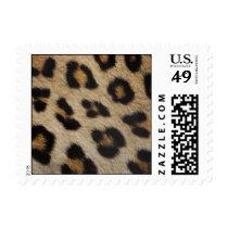 Leopard Fur Texture Pattern Postage