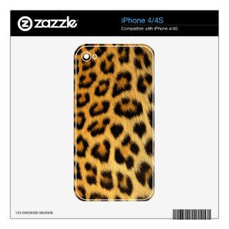 Leopard Fur Wildlife iPhone 4 Skin