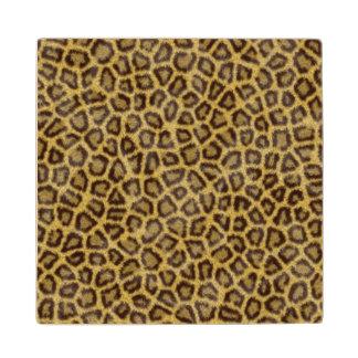 Leopard Fur Wooden Coaster