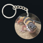 """Leopard Gecko Close Up Keychain<br><div class=""""desc"""">Do you love Leopard Geckos?  Are you a fan of these great little reptiles?</div>"""