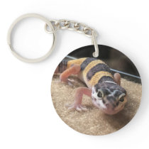Leopard Gecko Close Up Keychain