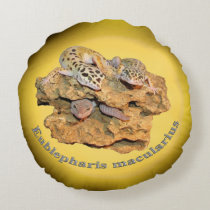Leopard gecko design for all! round pillow