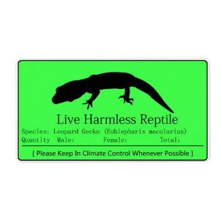 Leopard Gecko - Green Label