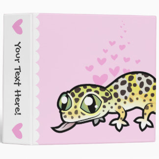 Leopard Gecko Love 3 Ring Binder