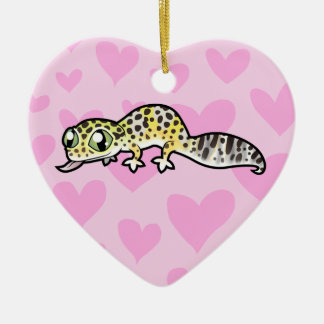 Leopard Gecko Love (add your own message) Ceramic Ornament