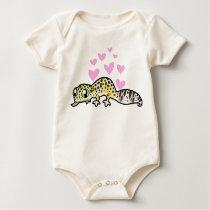 Leopard Gecko Love Baby Bodysuit