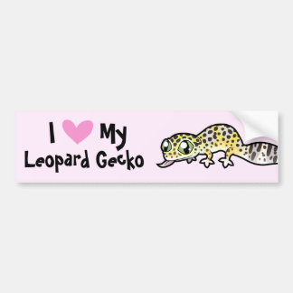 Leopard Gecko Love Bumper Sticker