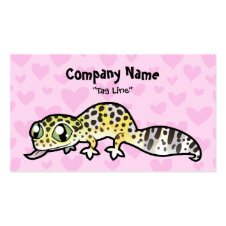 Leopard Gecko Love Double-Sided Standard Business Cards (Pack Of 100)