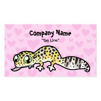 Leopard Gecko Love Business Card Templates