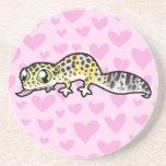 Leopard Gecko Love Coasters