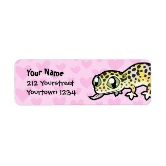 Leopard Gecko Love Return Address Label