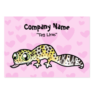 Leopard Gecko Love Large Business Cards (Pack Of 100)
