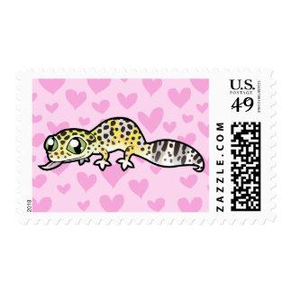 Leopard Gecko Love Postage Stamp